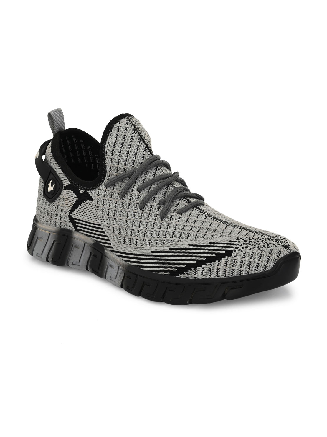 Hirolas   Hirolas® Men's Knitted athleisure Sports Shoes - Grey/Black