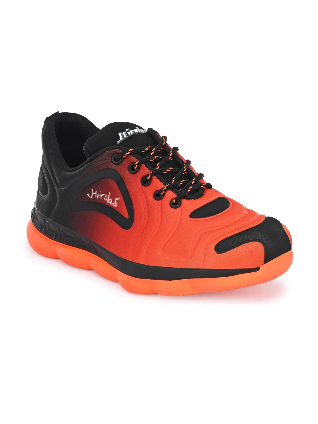 Hirolas   Hirolas® Men's Fabric Orange Running/Walking/Gym Sports Sneaker Shoes