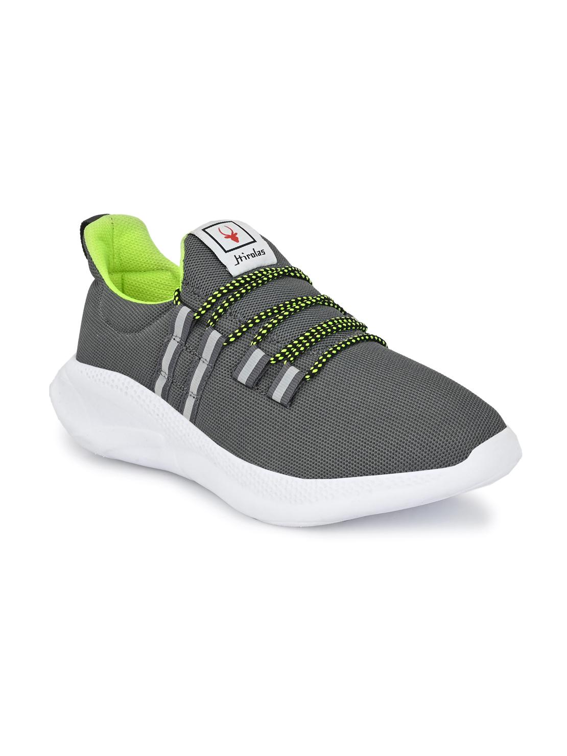 Hirolas | Hirolas® Men's Mesh Grey Walking/Gym/Running Sports Sneaker Shoes
