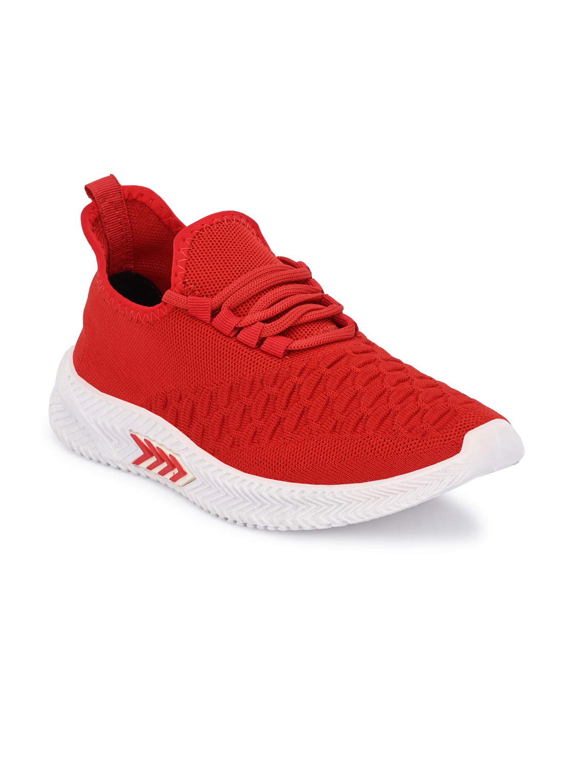 Hirolas | Hirolas® Men's Red Knitted Gym/Walking/Running athleisure Sports Sneaker Shoes