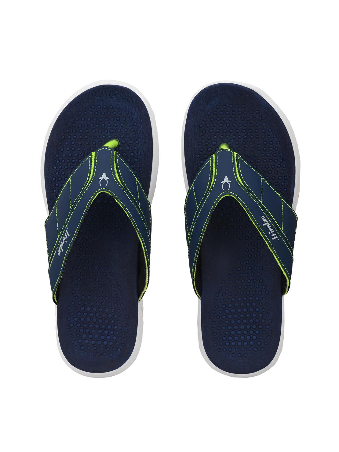 Hirolas | Hirolas® CLOUDWALK | Comfortable | Ultra-Soft | Light-Weight | Shock Absorbent | Bounce Back Technology | Water-Resistant | Flip Flops | Slippers for Men - Blue/Green