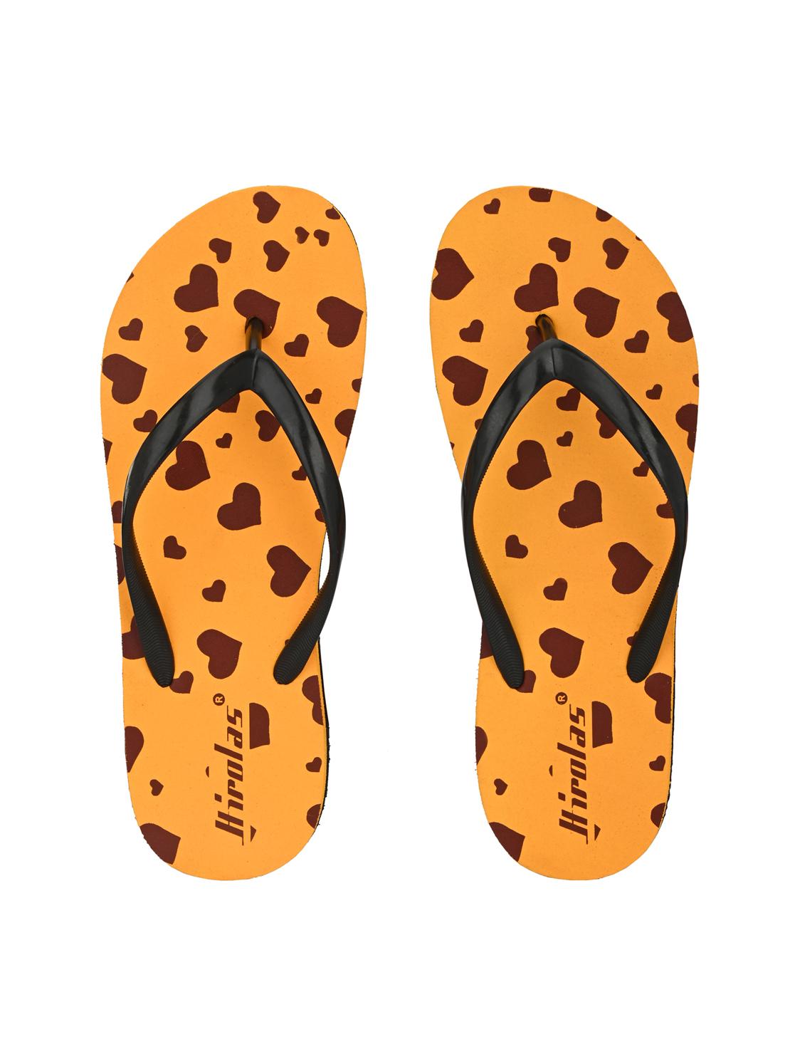 Hirolas | Hirolas® Mustard Flip Flop  Slippers for Women