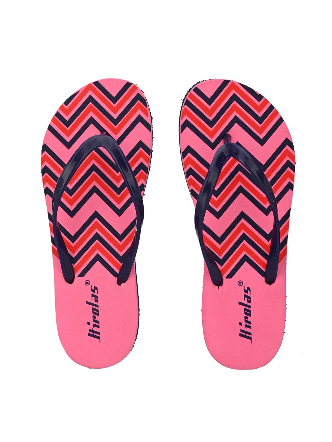Hirolas | Hirolas® printed Flip Flop  Slippers for Women - Pink/Blue