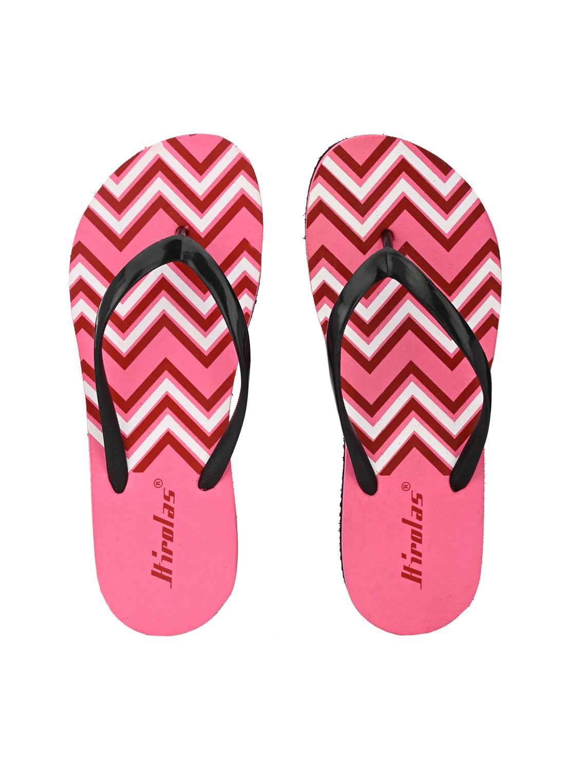 Hirolas | Hirolas® printed Flip Flop  Slippers for Women - Pink/Red