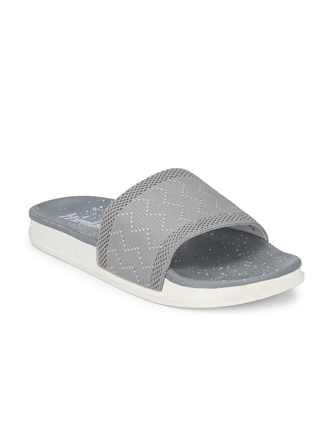Hirolas | Hirolas® Women Knitted Slipper Sliders - Grey