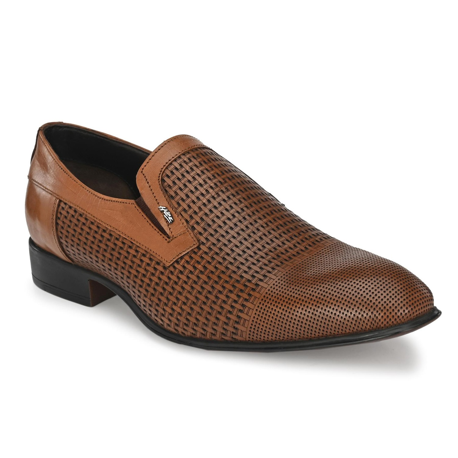 Hitz   Hitz Brown_Genuine Leather Slip-On Party Wear Shoes For Men