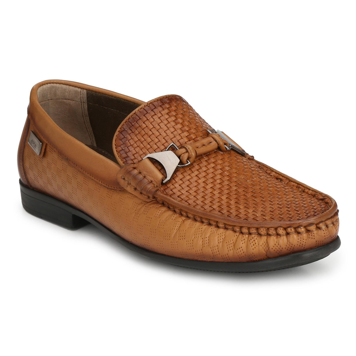 Hitz | Hitz Brown Genuine Leather Casual Loafers with Slip-On Fastening