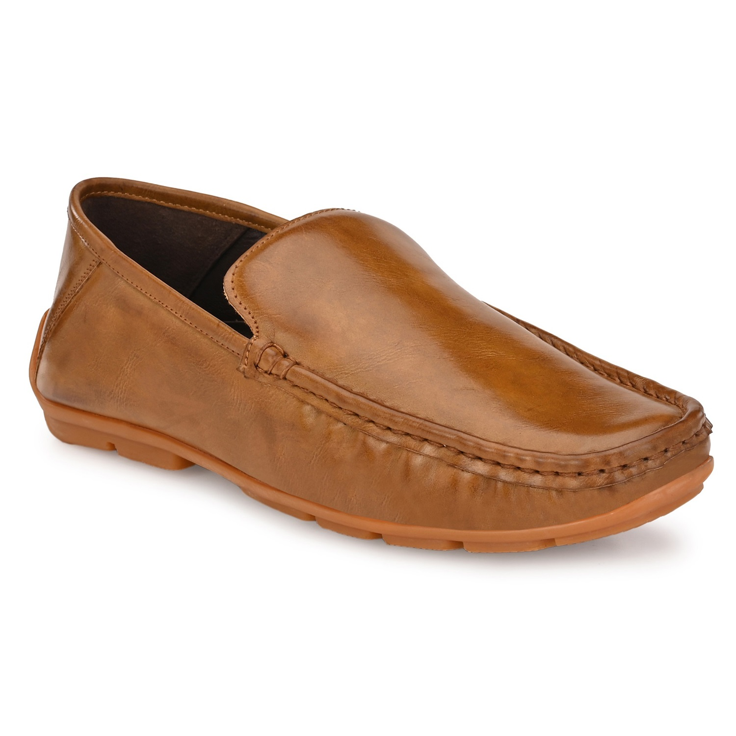 Hitz | Hitz Brown Casual Loafers with Slip-On Fastening