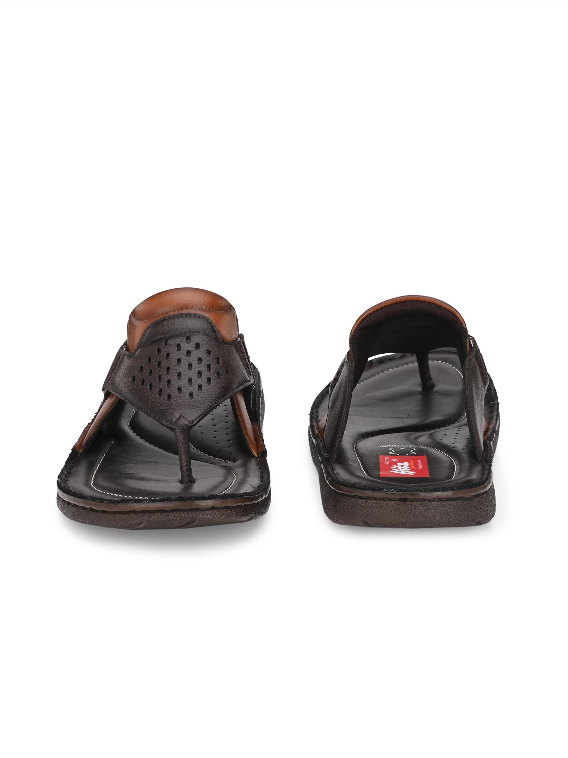Hitz | Hitz Brown Daily Wear Slippers For Men