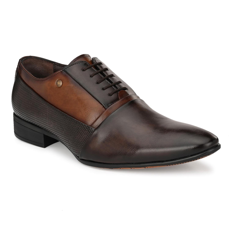 Hitz | Hitz Brown Coco Derby Formal_Shoes For Men