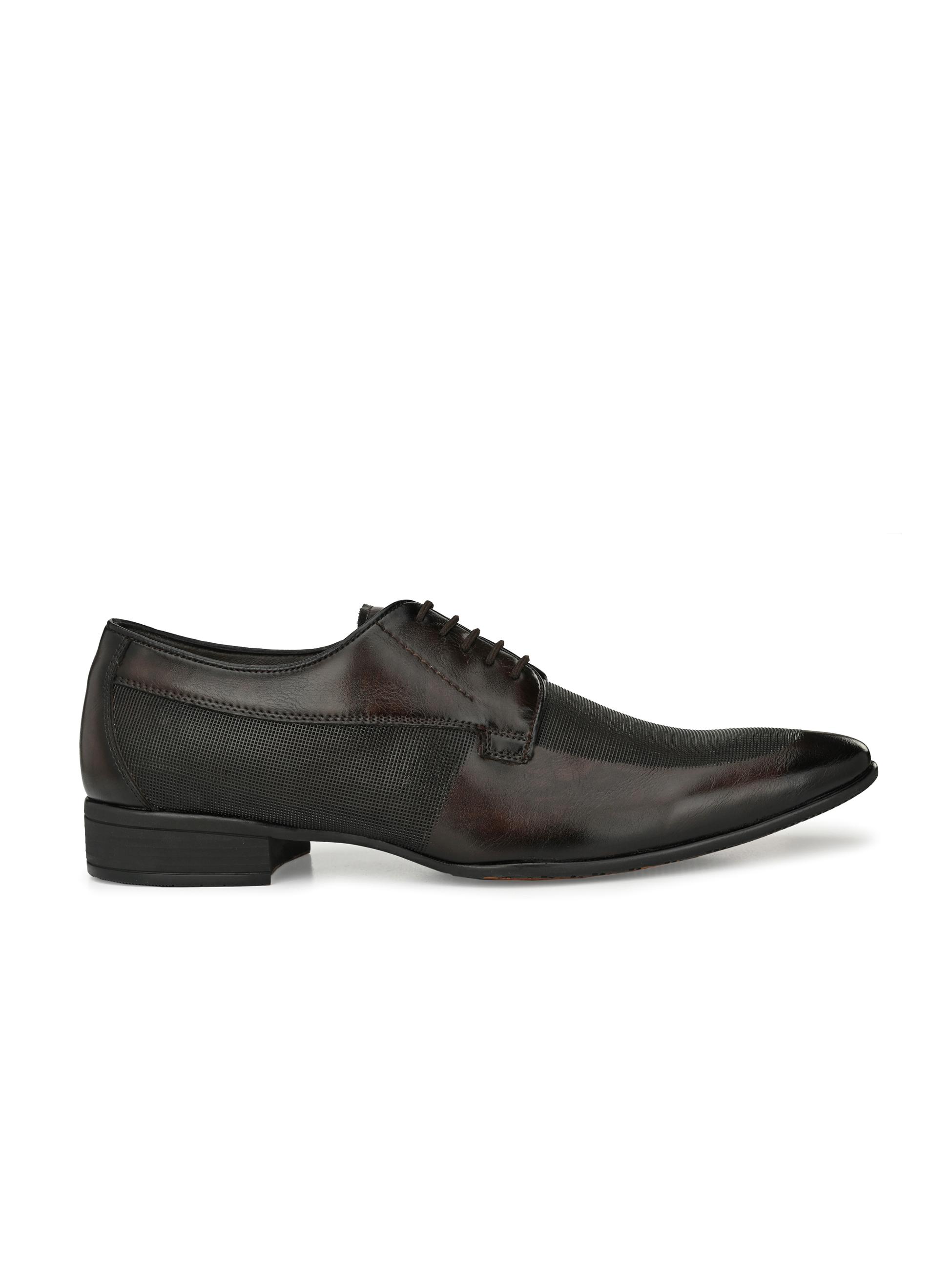Hitz | Hitz Brown Coco Formal Derby Shoes For Men