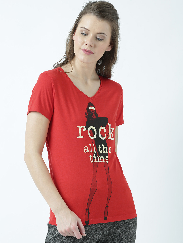 HUETRAP | Huetrap Womens Hot Blazing Red Graphic T Shirt