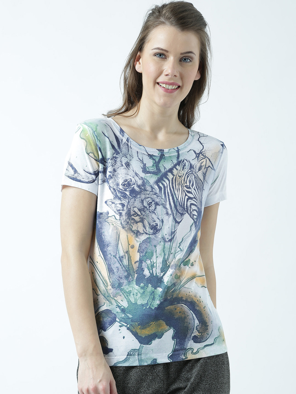 HUETRAP   Huetrap Womens Round Neck Printed Tshirt