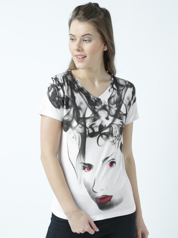 HUETRAP | Huetrap Womens Bloodshot Eyes and Lips T Shirt
