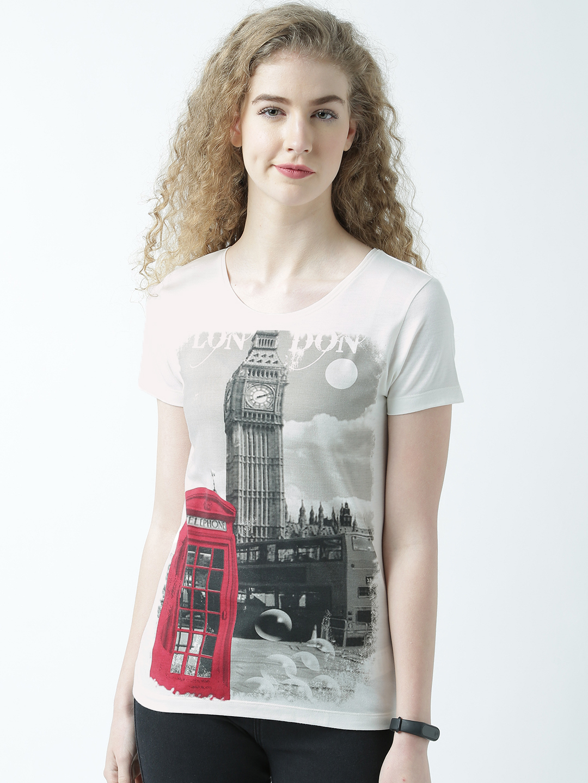 HUETRAP   Huetrap Womens Be a Globetrotter Round Neck Graphic Print T Shirt