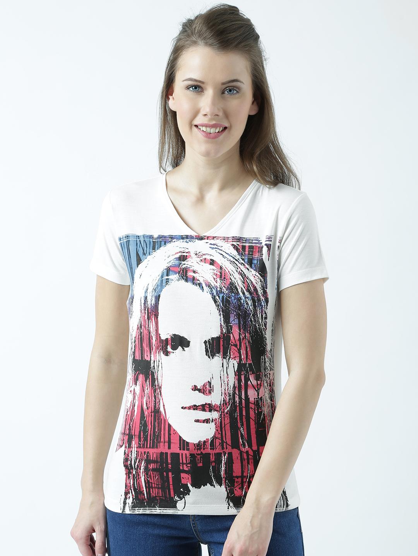 HUETRAP | Huetrap Womens The Stylish Side of You V Neck Graphic Print T Shirt
