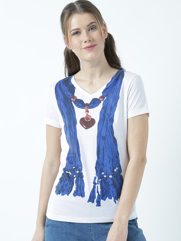 HUETRAP | Huetrap Womens Trendy shawl printed T Shirt