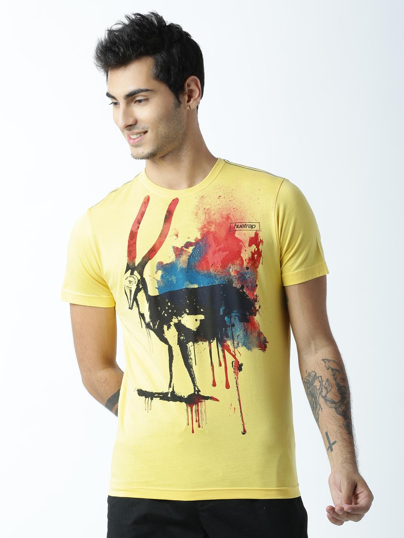 HUETRAP | Huetrap Mens Deer You Splash  Yellow T shirt