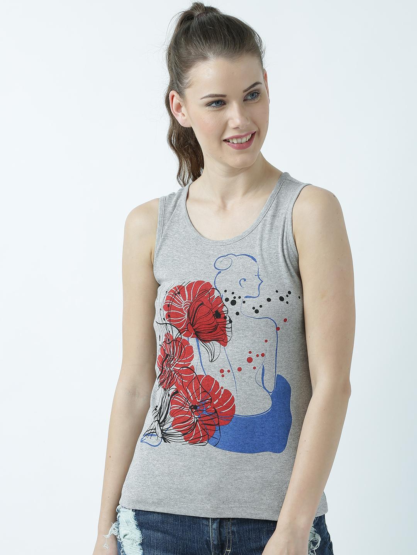 HUETRAP | Huetrap Womens Back to the Flowers Printed Sleeveless Tank Top