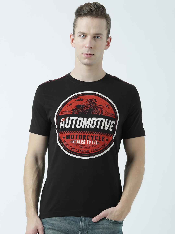 HUETRAP | Huetrap Mens Get going Black printed Tshirt