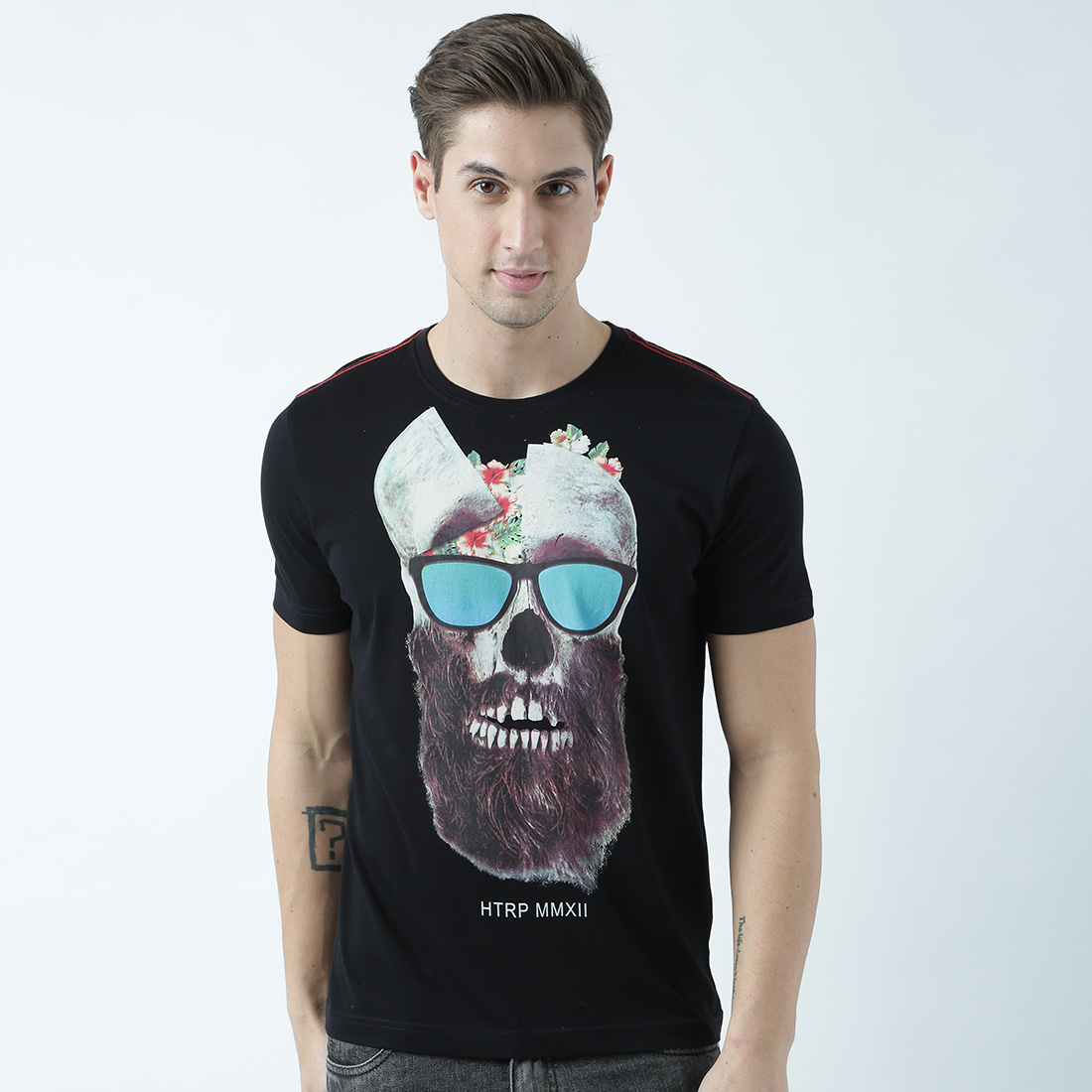 HUETRAP | Huetrap Mens Be innovative with your attireRound neck graphic print Tshirt
