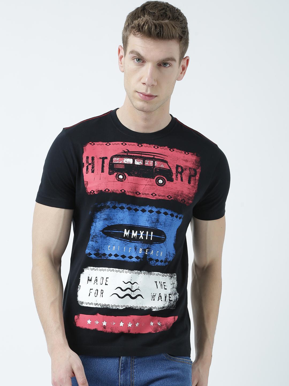 HUETRAP | Huetrap Mens Show them your ticket  Black printed T Shirtt
