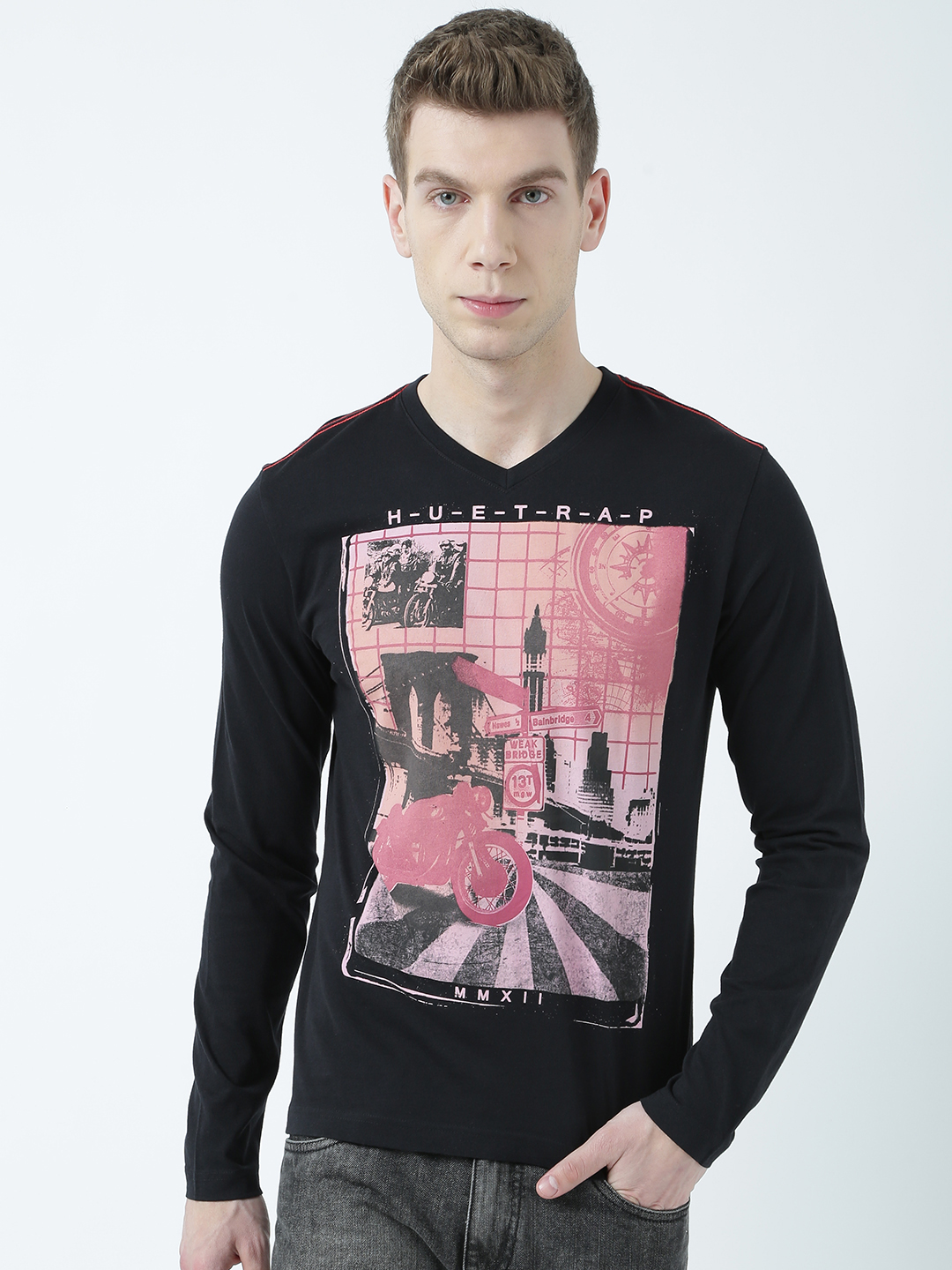 HUETRAP | Huetrap Mens Vintage or nothing Random T Shirt with old elements