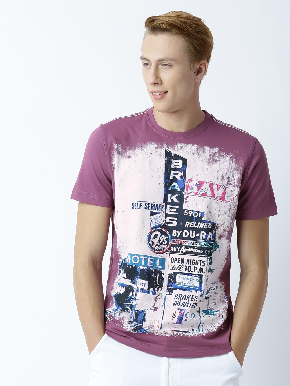 HUETRAP   Huetrap Mens Printed Round Neck T-Shirt
