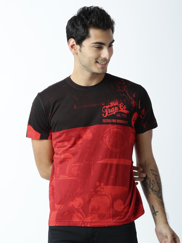 HUETRAP | Huetrap Mens Printed Round Neck T-Shirt