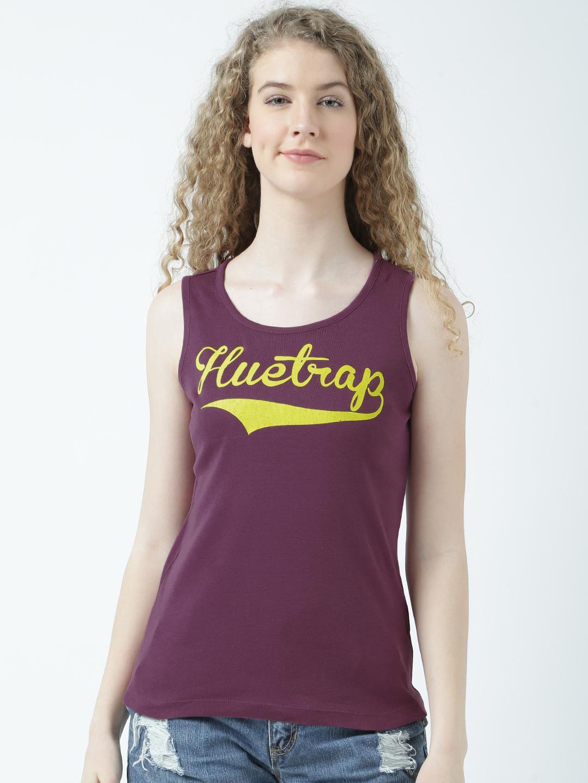 HUETRAP   Huetrap Womens Brand Printed Tank Top