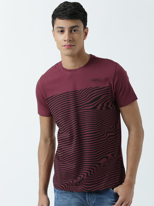 HUETRAP   Huetrap Mens Fashionable and Trendy Printed Tshirt