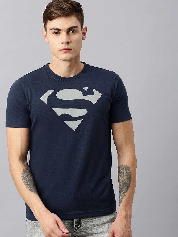 HUETRAP | Superman by Huetrap Men Navy & White Printed Eco Round neck T-Shirt