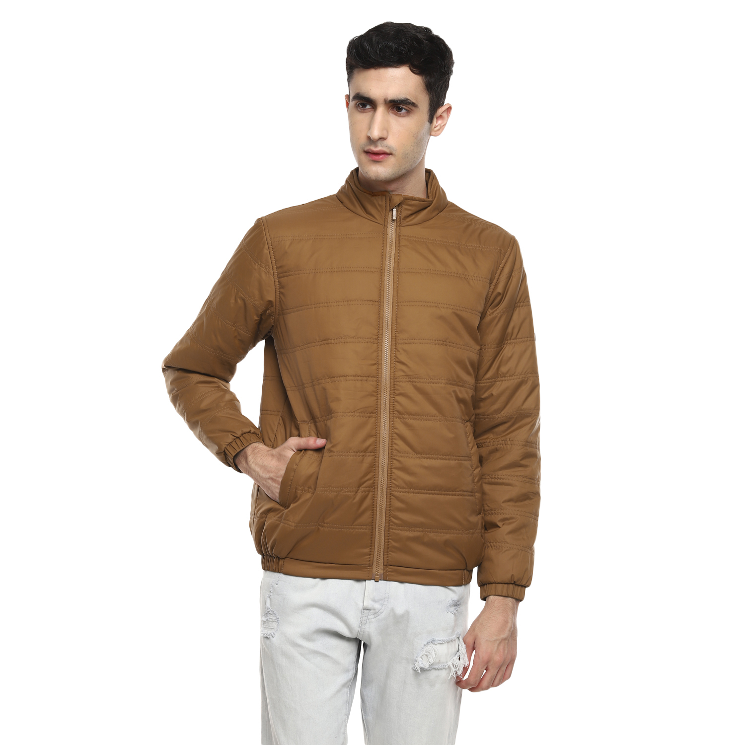 RED CHIEF   Tan Solid Bomber Jacket