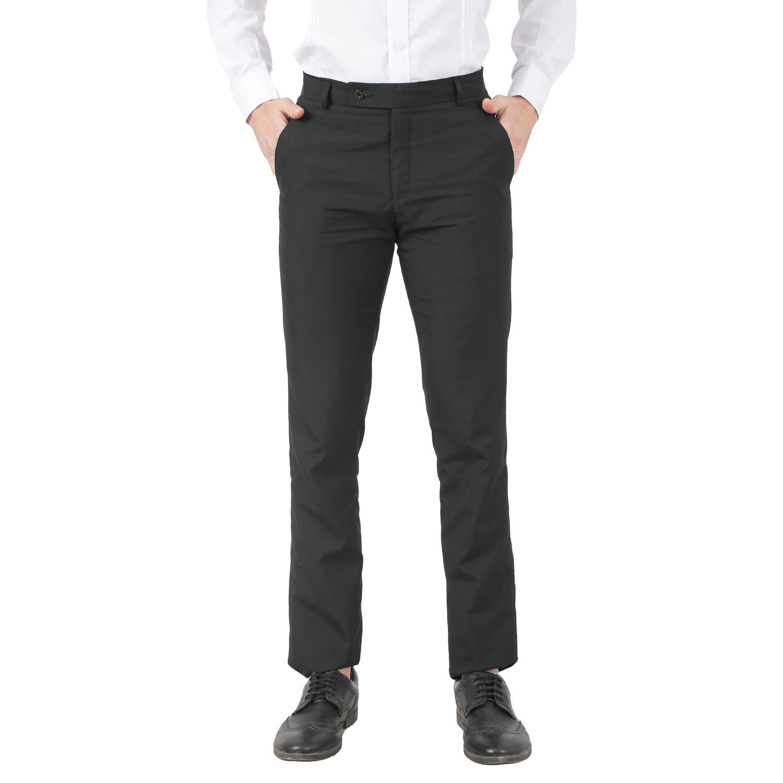 TAHVO | TAHVO men Black lycra formal trousers
