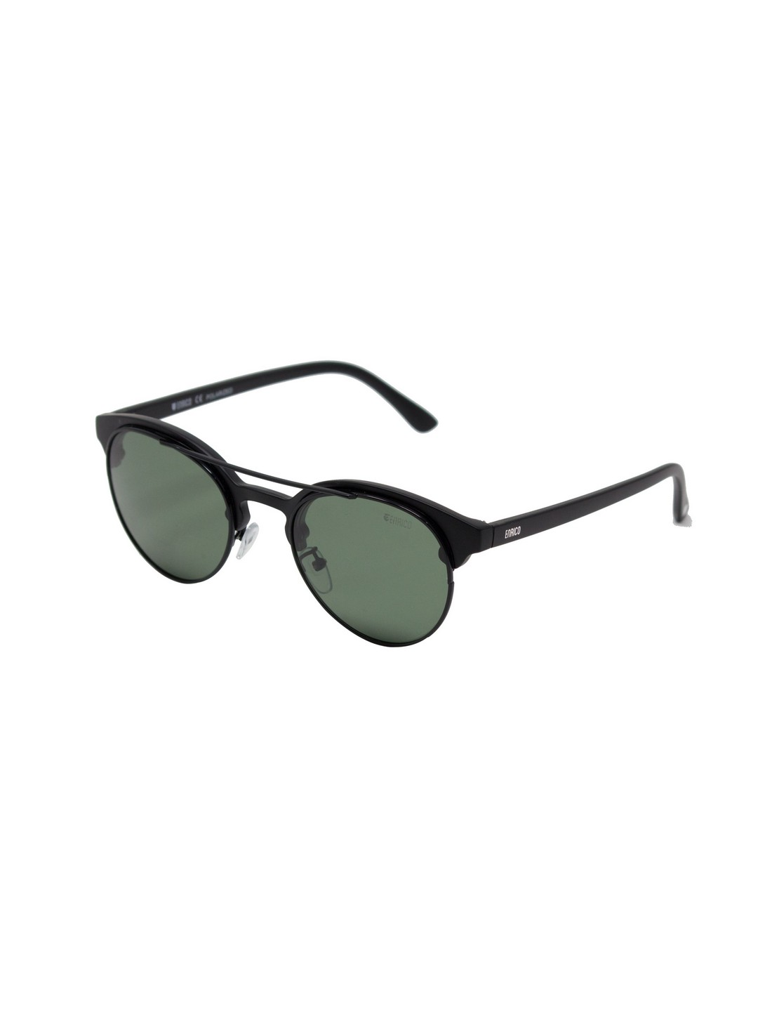 ENRICO | ENRICO Pompom UV Protected Round Unisex Sunglasses ( Lens - Green | Frame - Black)