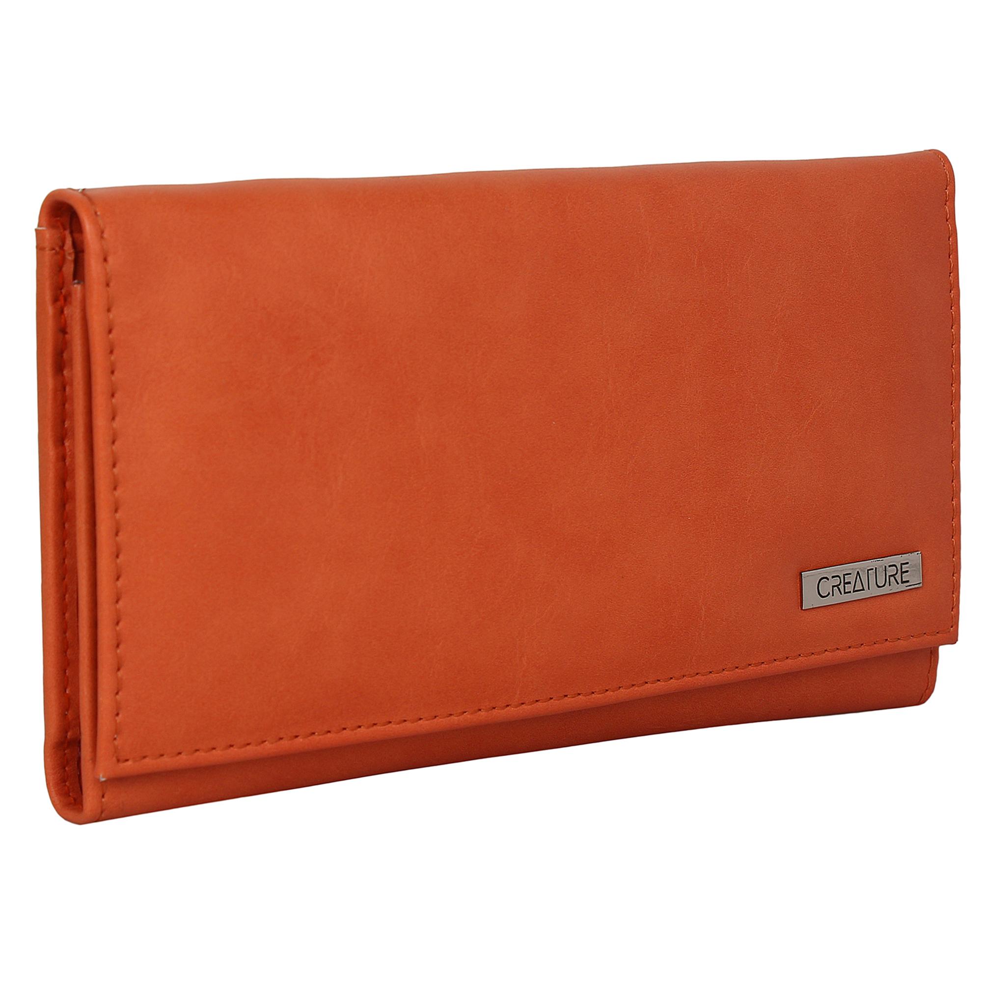 CREATURE | CREATURE Orange Stylish PU Clutch for Women