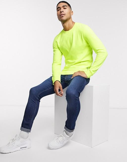 Hemsters | Hemsters Full Sleeves Neon green Sweatshirt