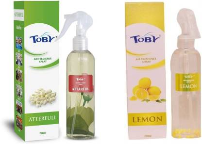 Toby | TOBY Atterfull & Lemon Air Freshener (Room Spray) - (250mlx2)