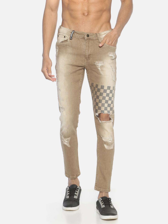 IMPACKT | Impackt ripped printed denim jeans