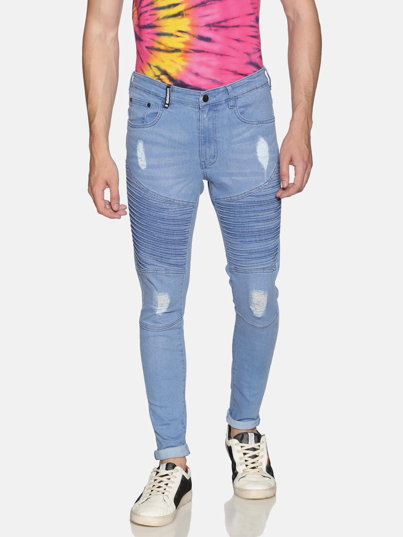 IMPACKT   Impackt Light Washed Skinny Fit Biker Jeans for Men