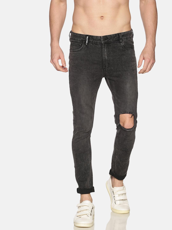 IMPACKT | Impackt Denim Medium Washed Skinny Fit 5 Pockets Distressed Jeans for Men