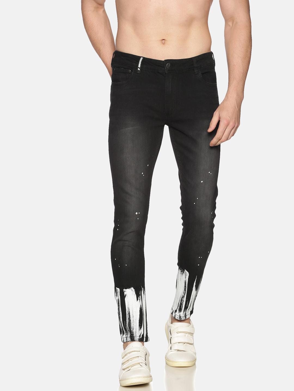 IMPACKT | Impackt Denim Medium Washed Skinny Fit 5 Pockets Printed Jeans for Men