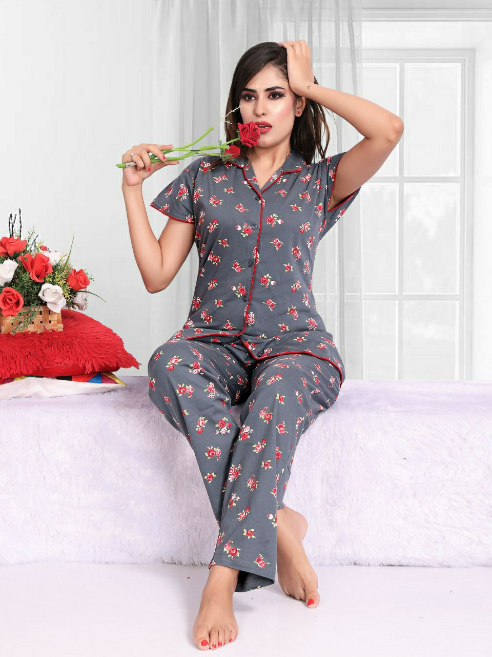 Impex | Impex All Over Printed Night suits For Women