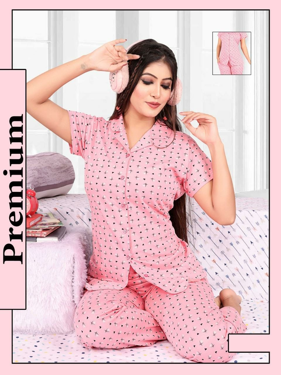 Impex | Women's relaxable all over printed night suits