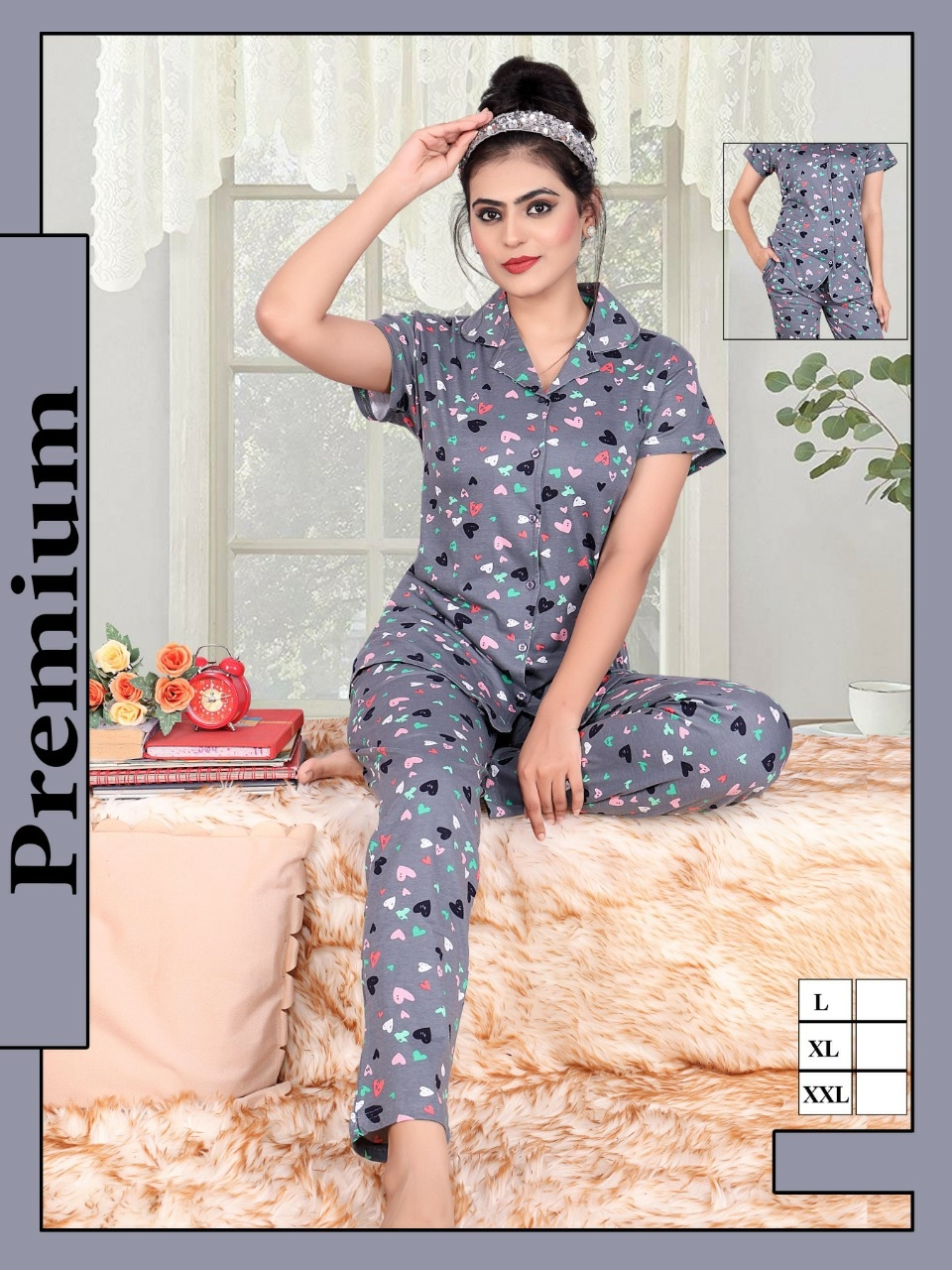 Impex   Impex women's all over printed night wear