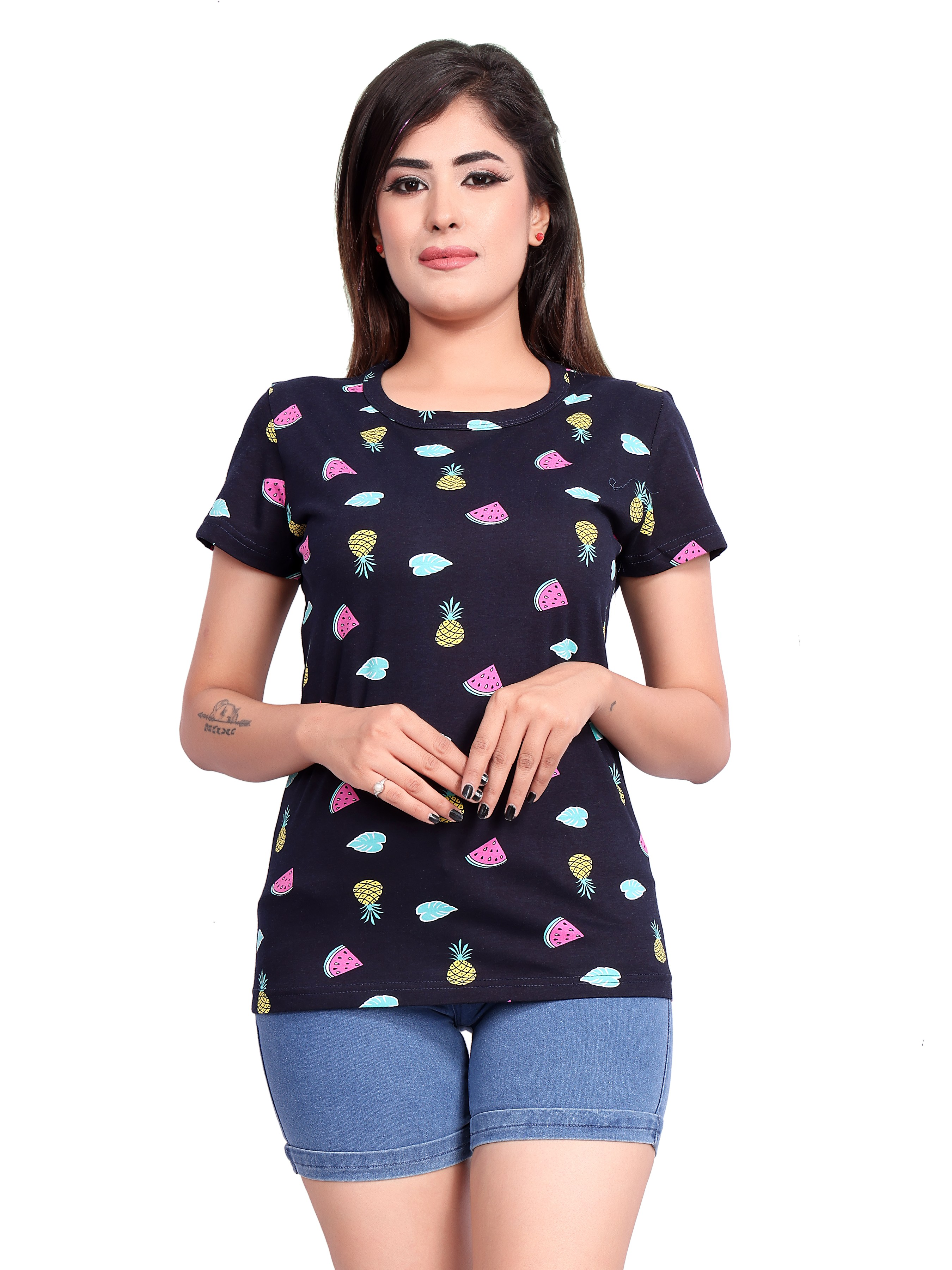 Impex | Impex Women's Cotton Hosiery printed Tshirt