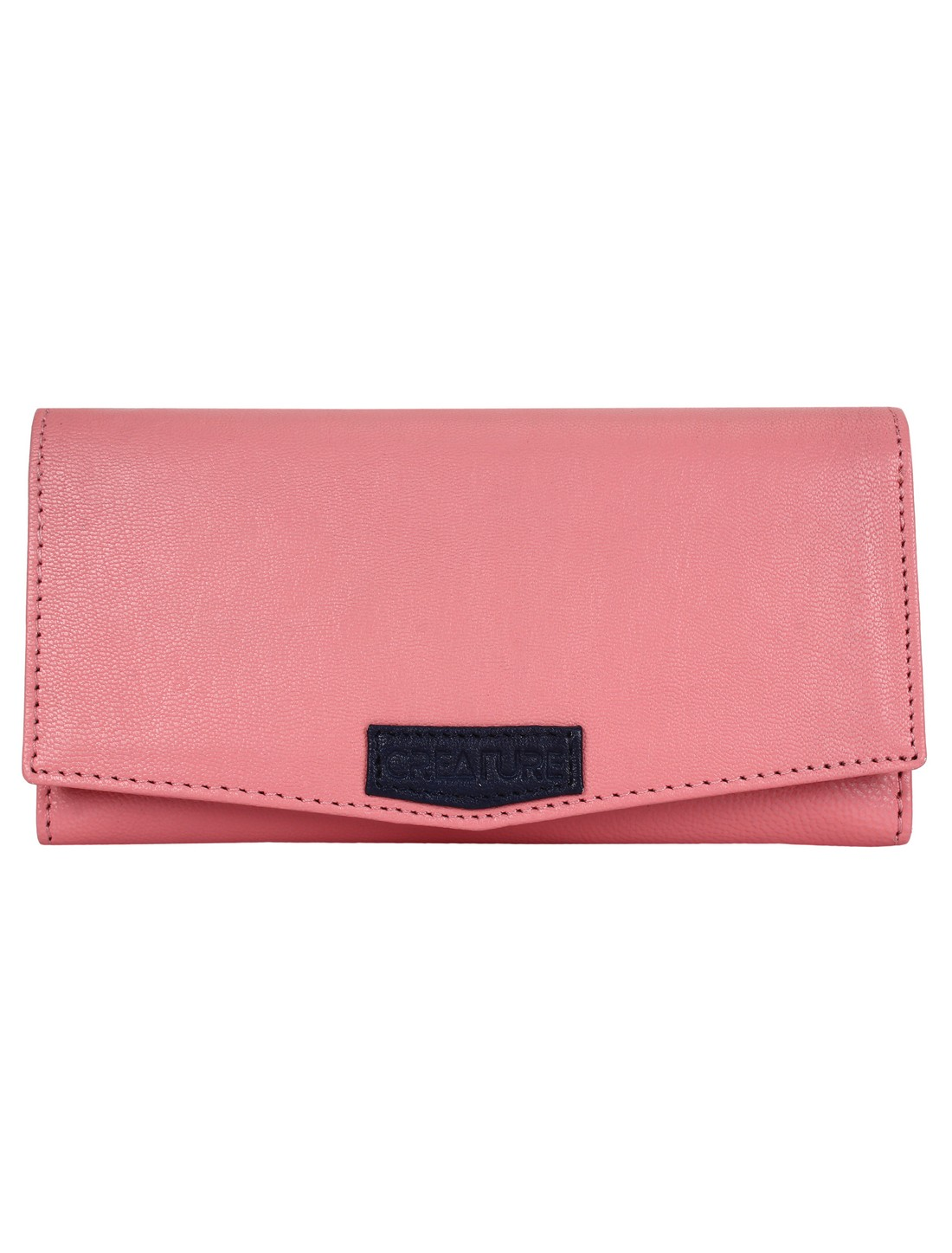 CREATURE   CREATURE Pink Stylish Genuine Leather Clutch for Women