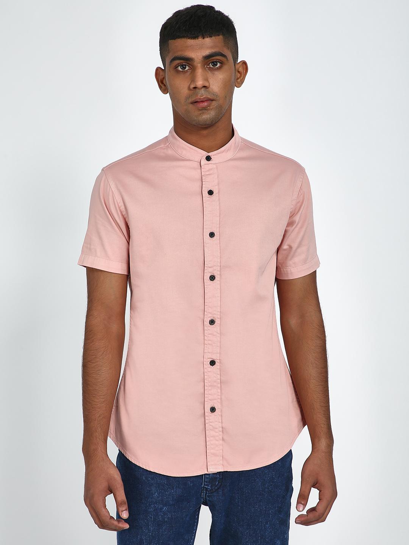 Blue Saint | Blue Saint Men's Pink Slim Fit Shirts