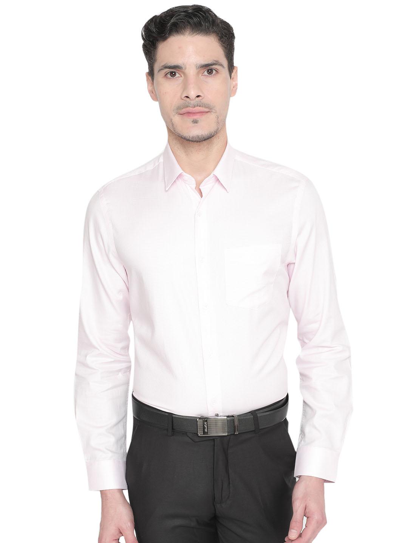 J. HAMPSTEAD | J. Hampstead Men's Pink Slim Fit Checked Formal Shirt