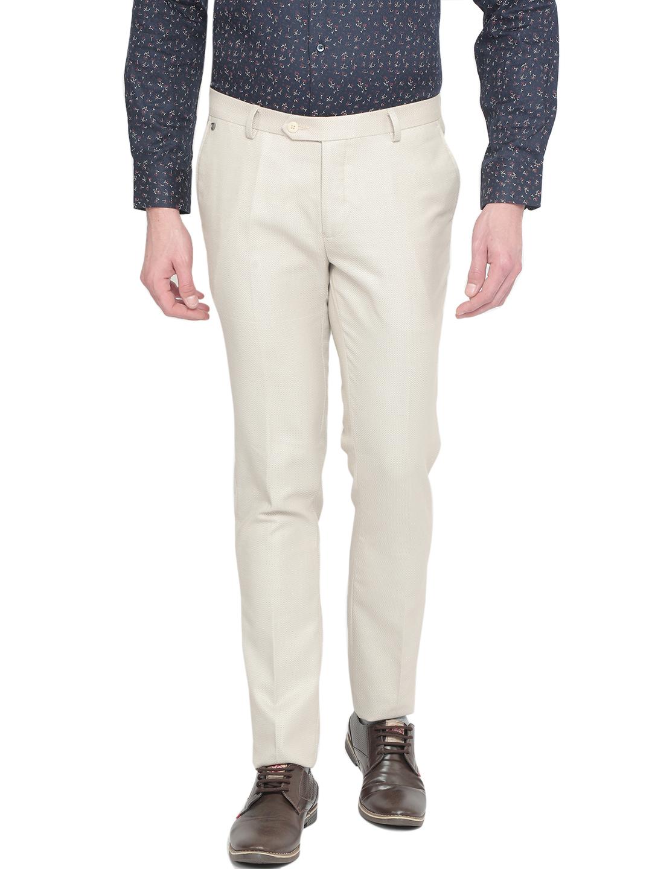 J. HAMPSTEAD | J. Hampstead Men's Slim Fit Self Design Slim Trousers